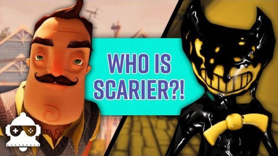 Is Bendy And The Ink Machine Scarier Than Hello Neighbor?? +Let's Play Highlights | UnMuted S1e5