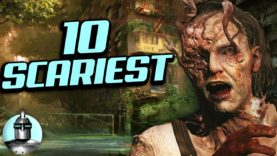 Top 10 SCARIEST Moments In Video Games!! | The Leaderboard